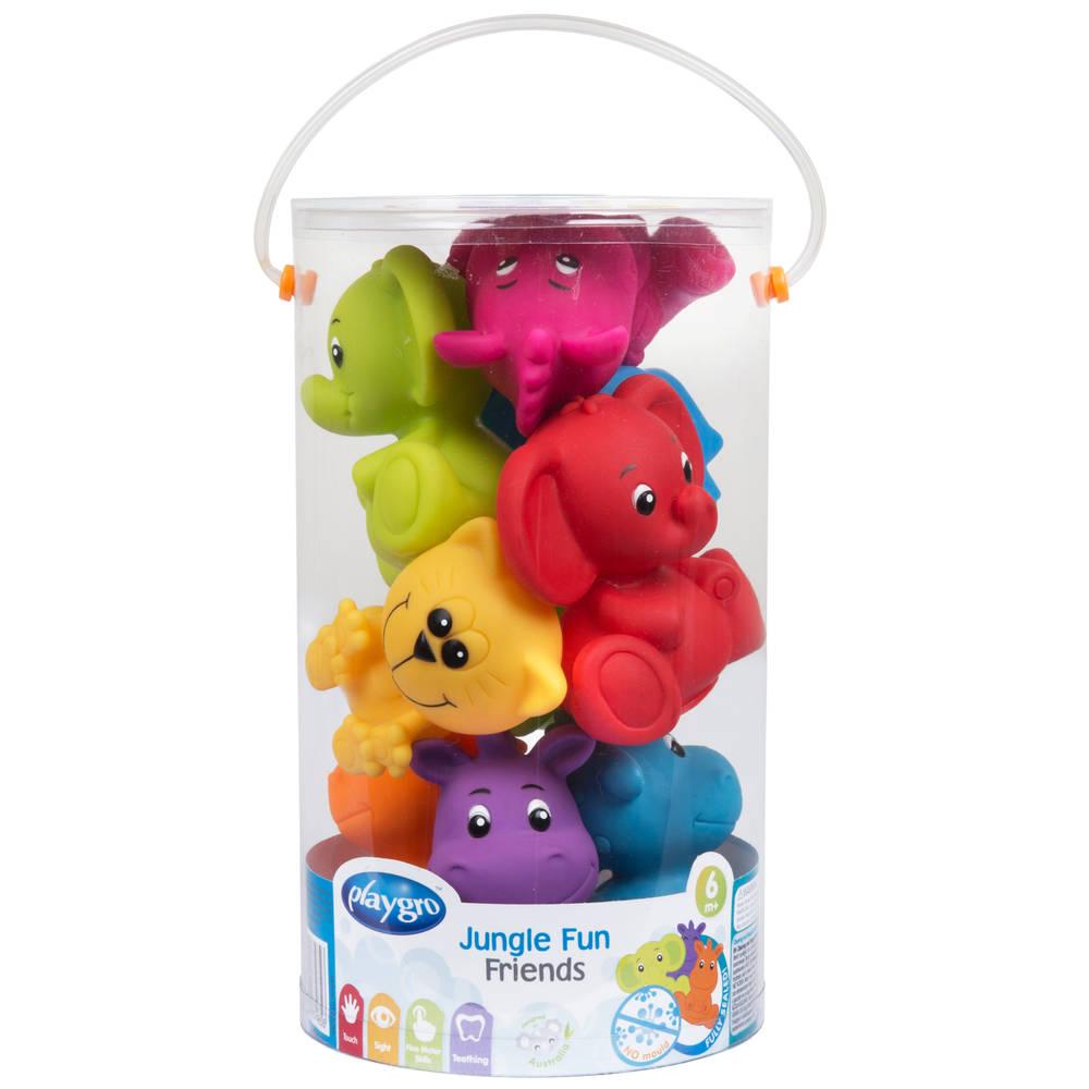 Geschenkset badspeeltjes jungle dieren - 9 stuks