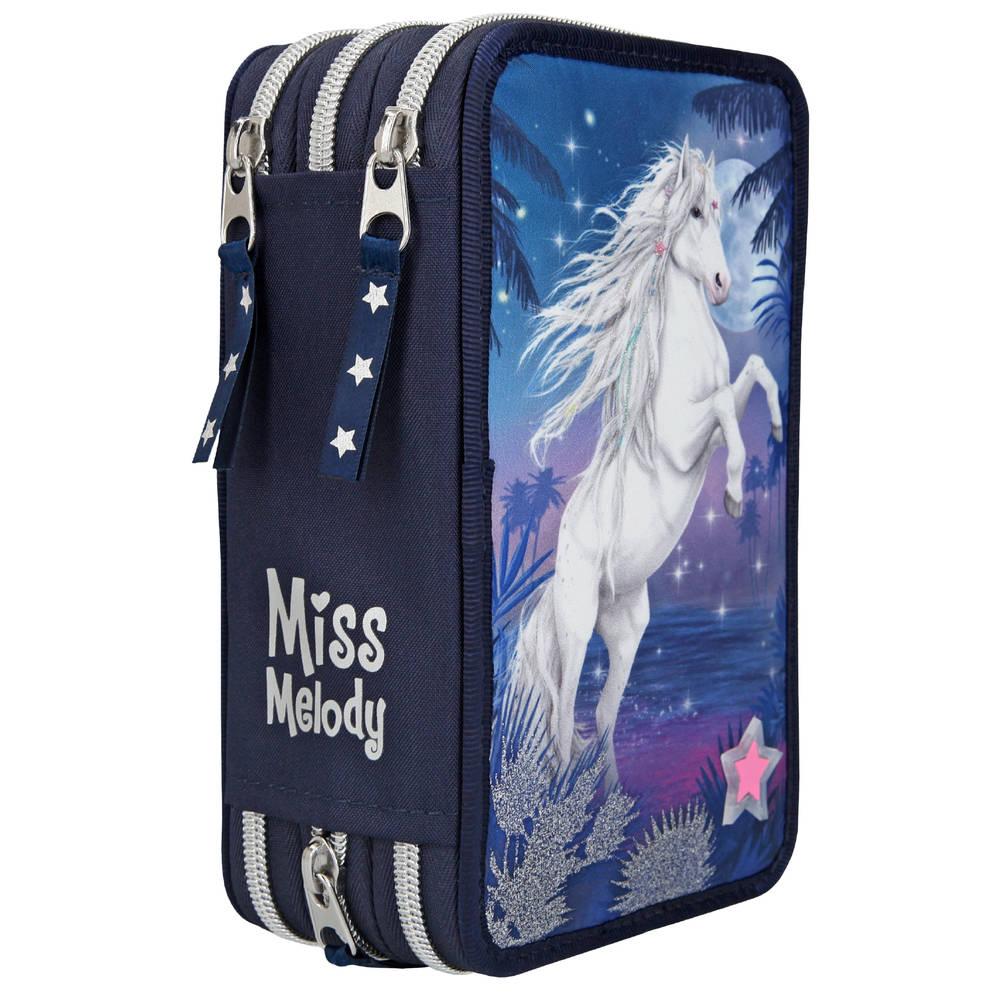 Miss Melody 3-vaks glitter etui met LED