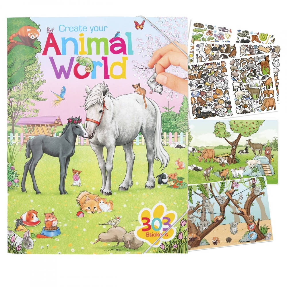 Create Your Animal World kleurboek