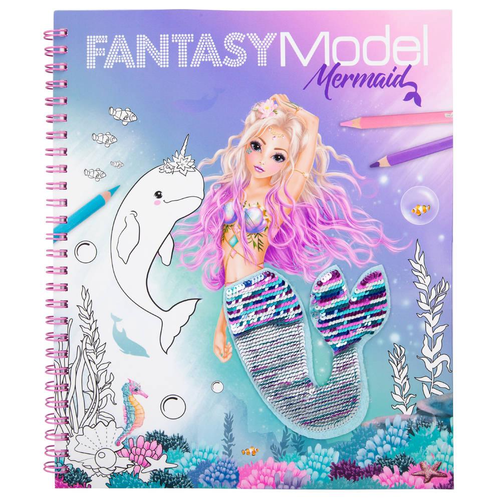 TOPModel Fantasy Model zeemeermin kleurboek met pailletten