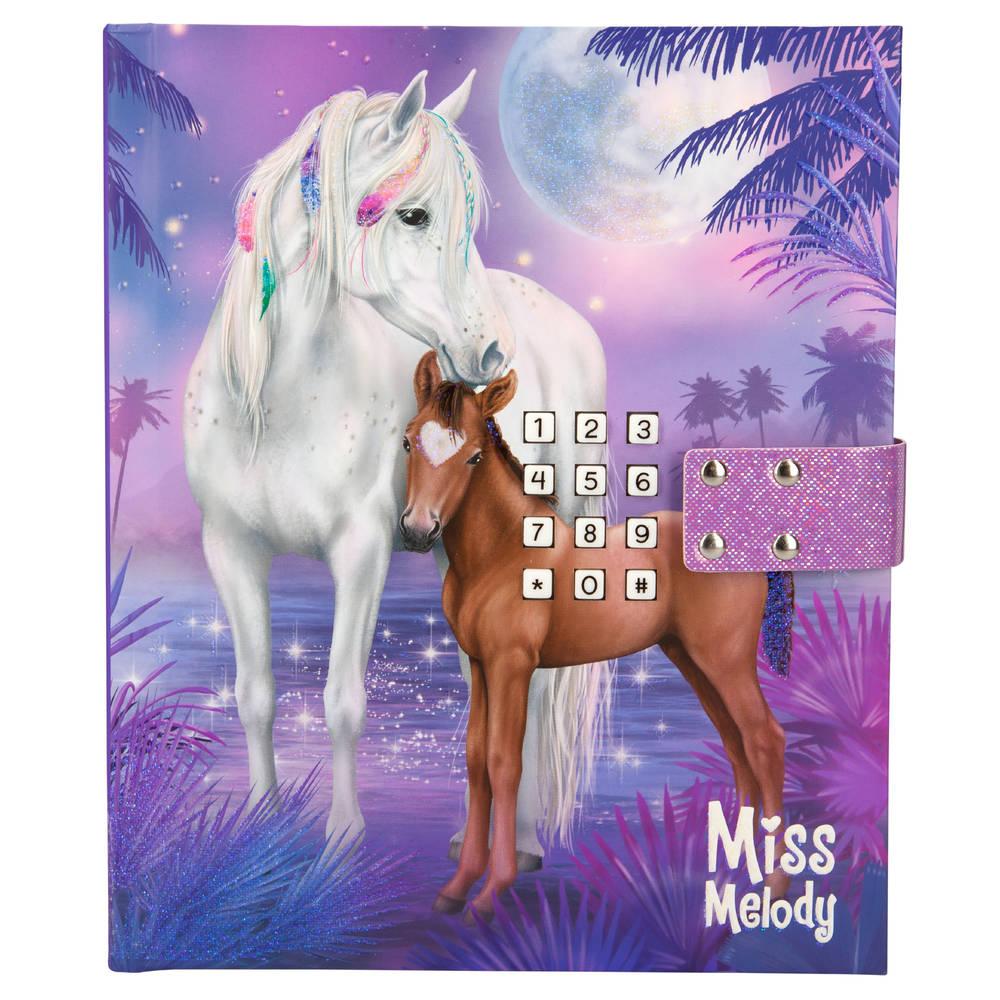 Miss Melody dagboek met geheime code - paars