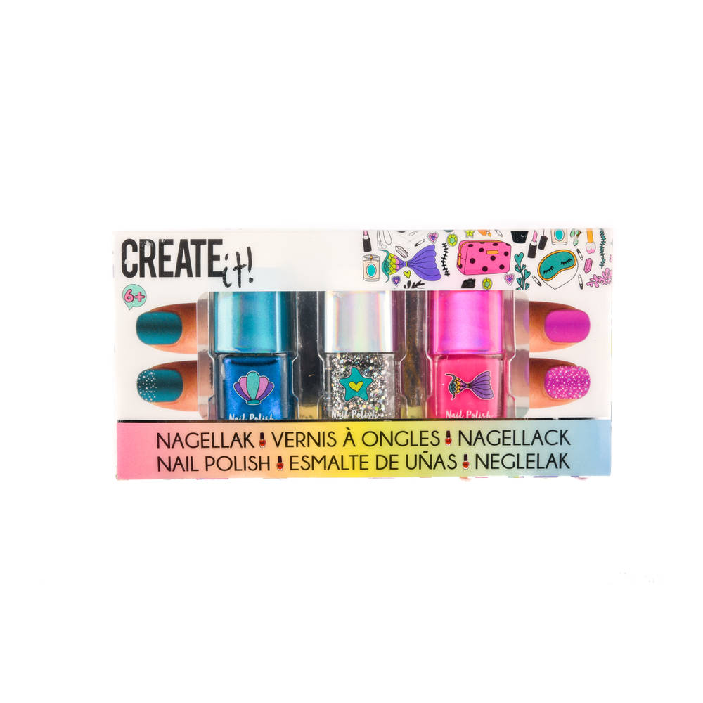 Create It! zeemeermin nagellak set 3-delig