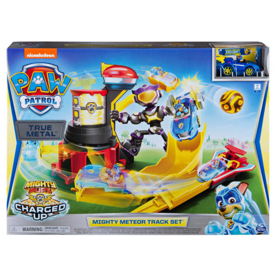 PAW Patrol True Metal Mighty Meteor autoracebaanset