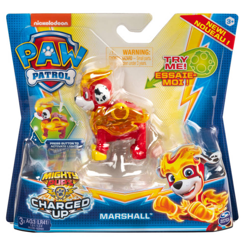 PAW Patrol Mighty Pups Charged Up figuur Marshall