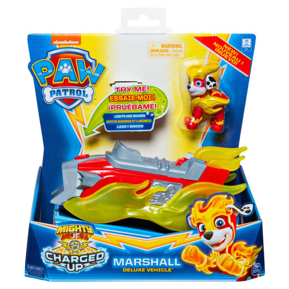 PAW Patrol Mighty Pups Charged Up voertuig Marshall