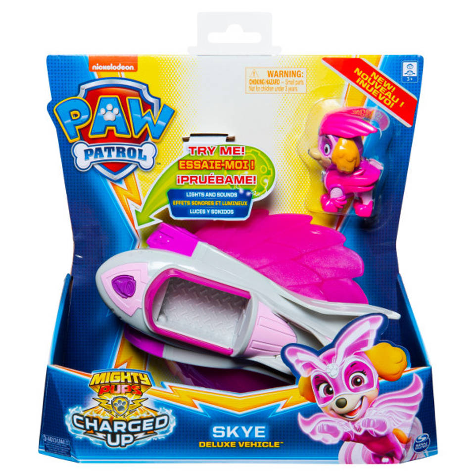 PAW Patrol Mighty Pups Charged Up voertuig Skye