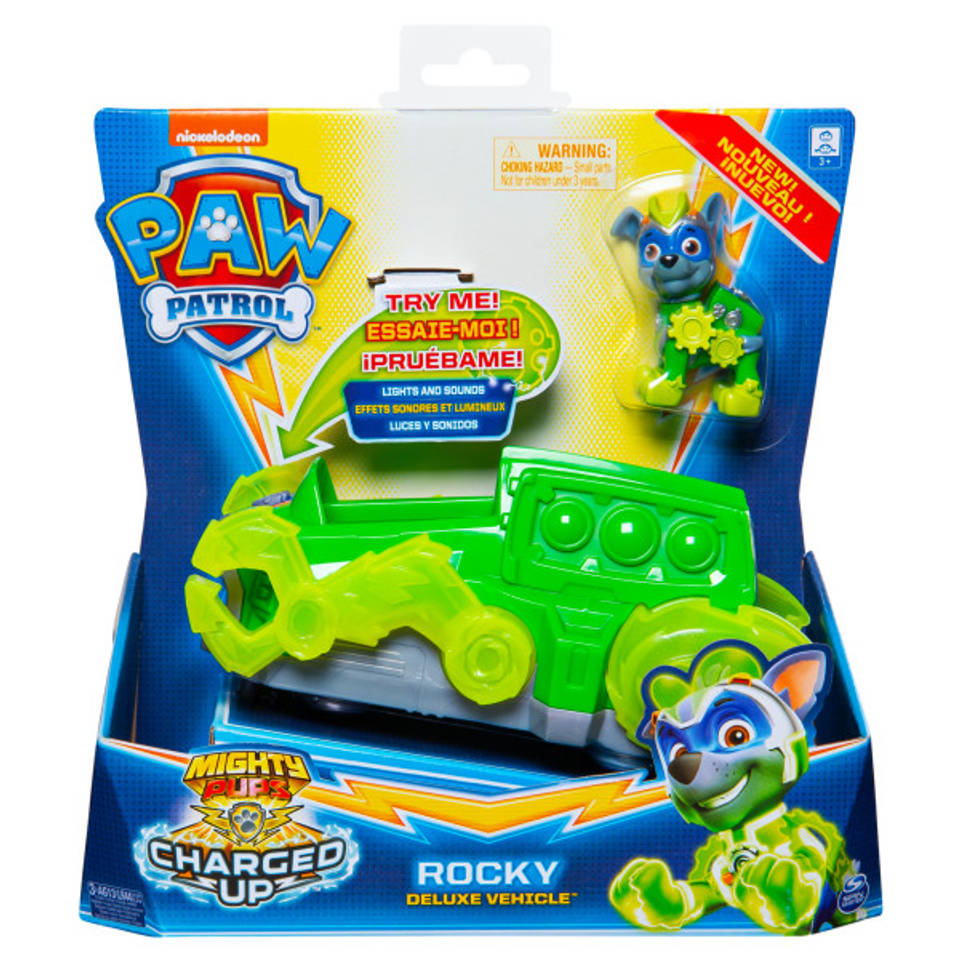 PAW Patrol Mighty Pups Charged Up voertuig Rocky