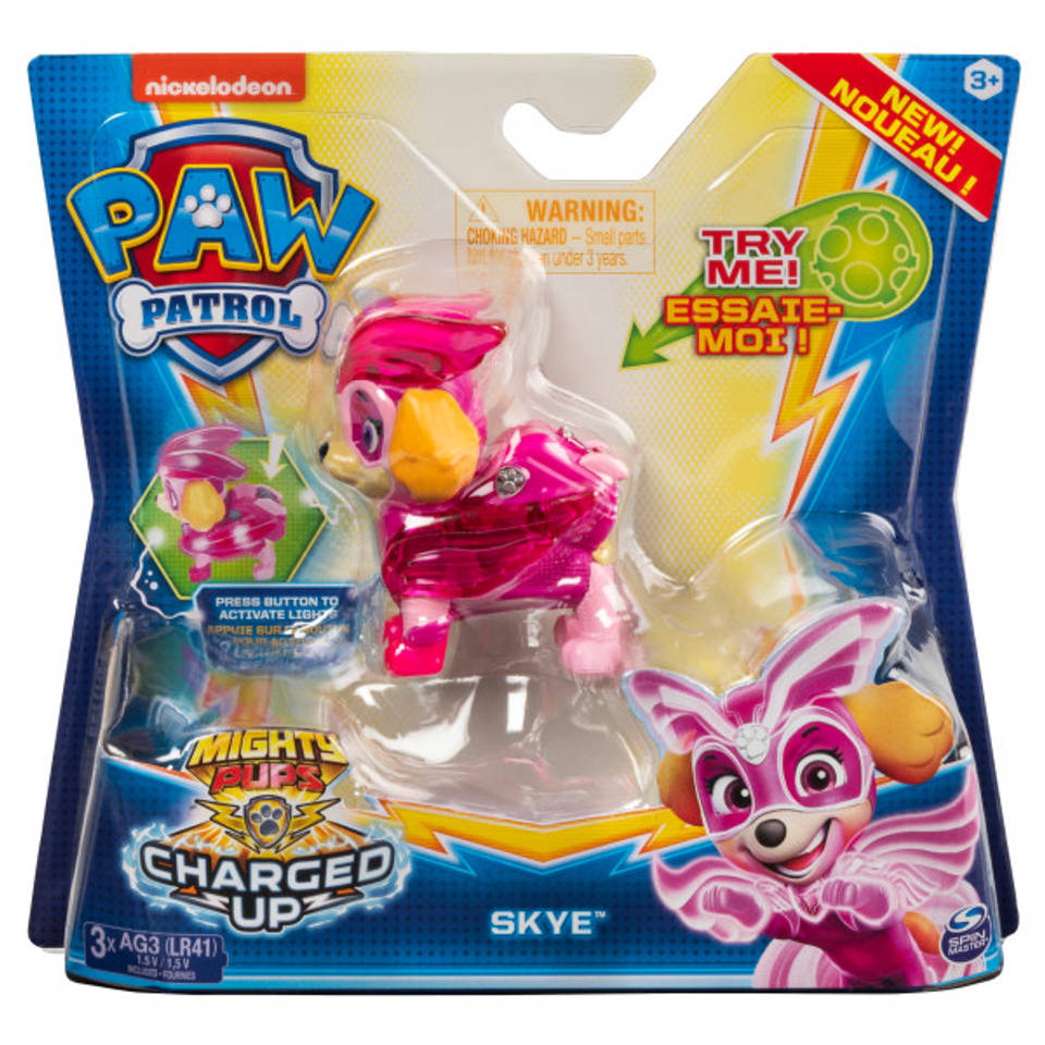 PAW Patrol Mighty Pups Charged Up figuur Skye