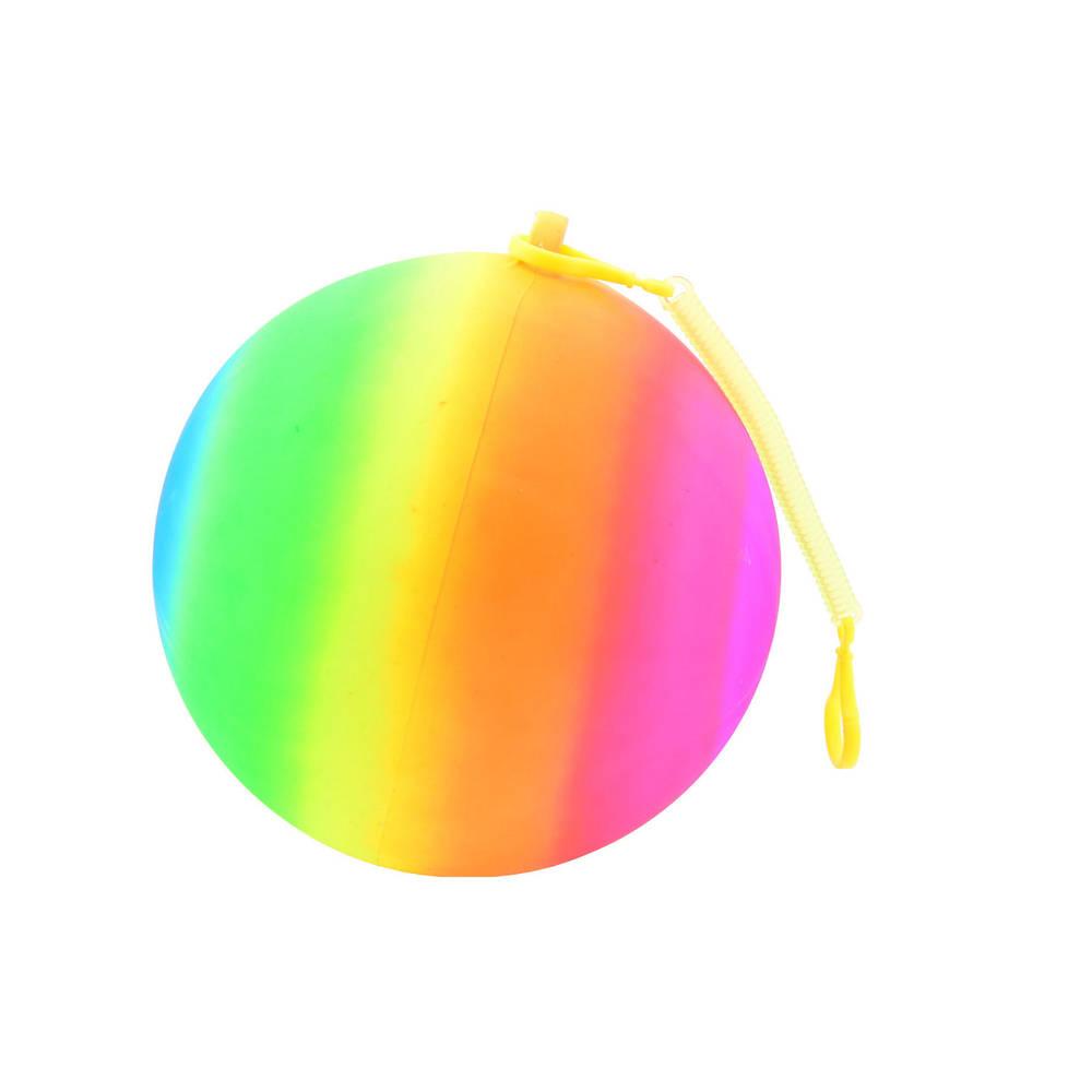Regenboogbal met koord
