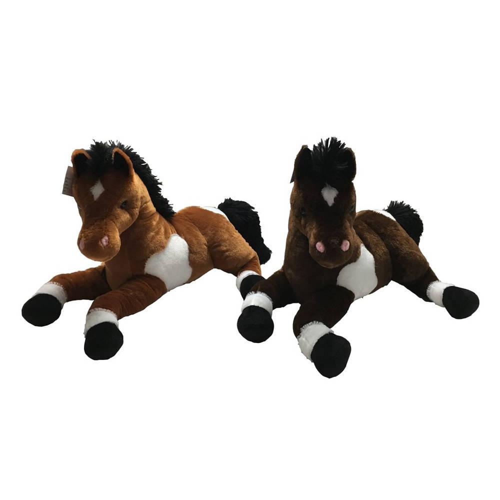 Liggende knuffel paard - 45 cm