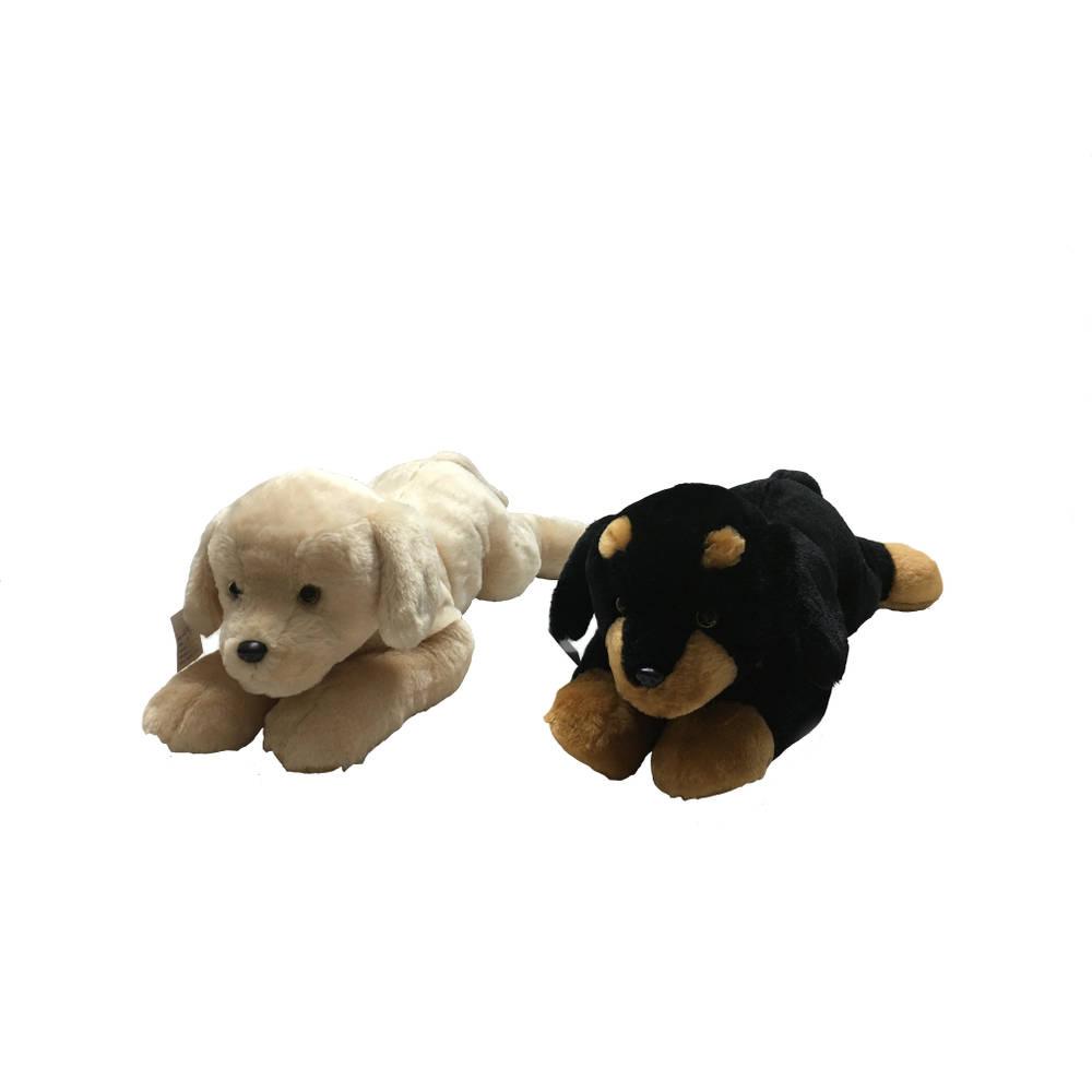 Liggende knuffel hond - 55 cm