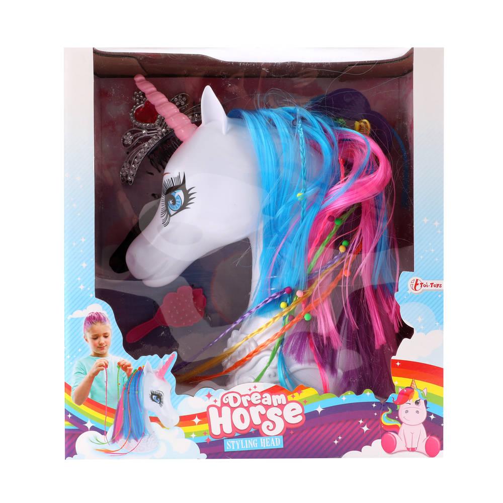 Dream Horse kaphoofd eenhoorn met accessoires