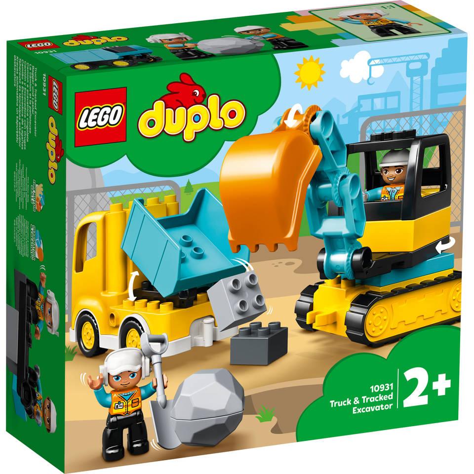 LEGO DUPLO truck en graafmachine met rupsbanden 10931