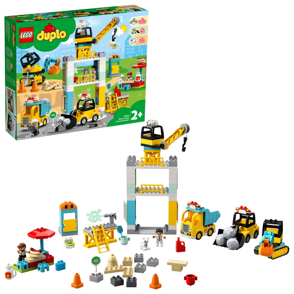 LEGO DUPLO torenkraan en bouwterrein 10933