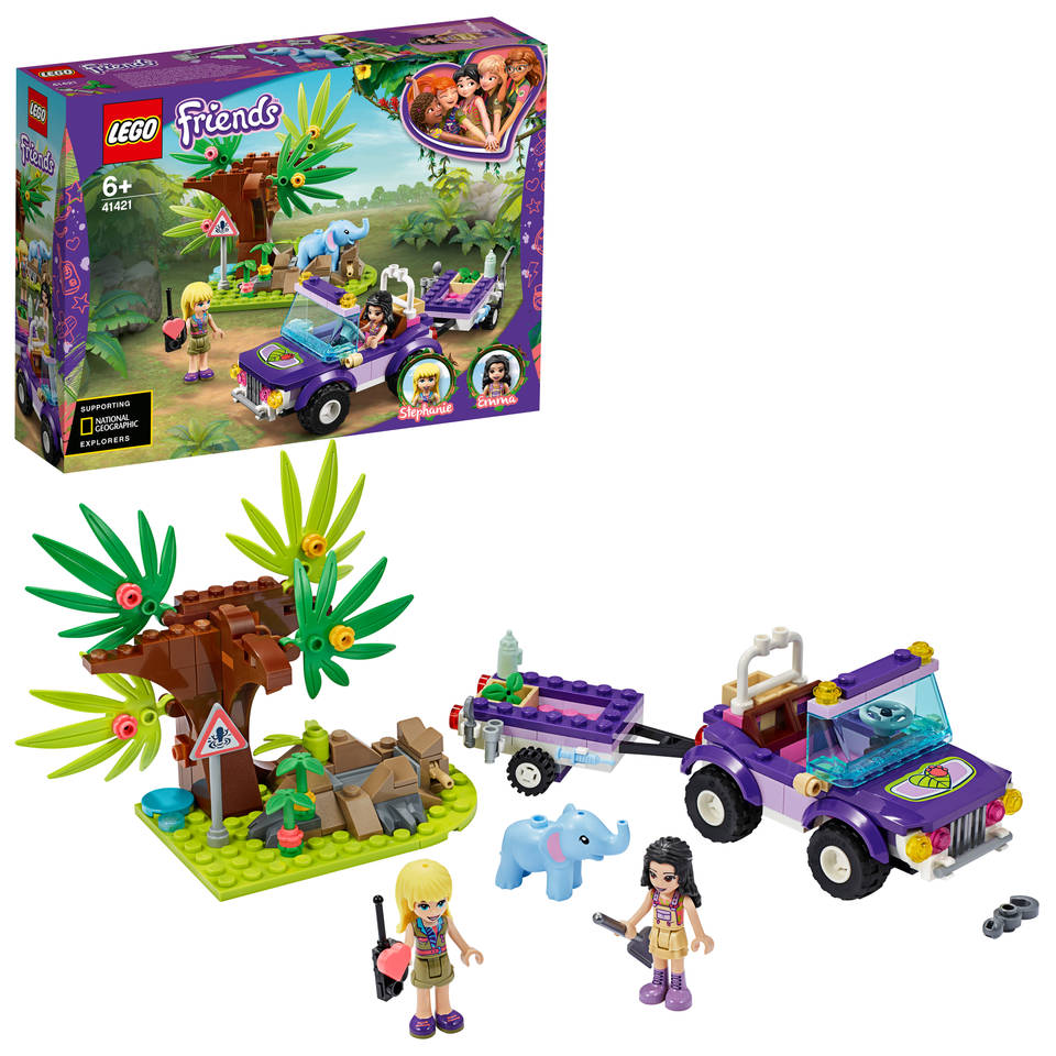 LEGO Friends reddingsbasis babyolifant in jungle 41421