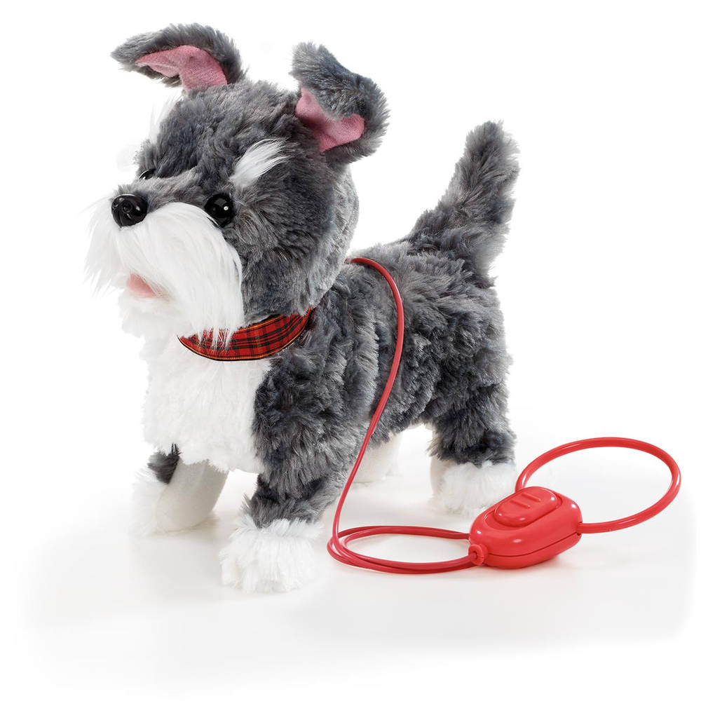 Walk Along puppy - grijs/wit