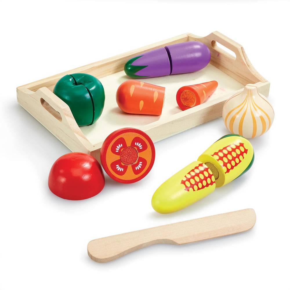Houten speelset groenten