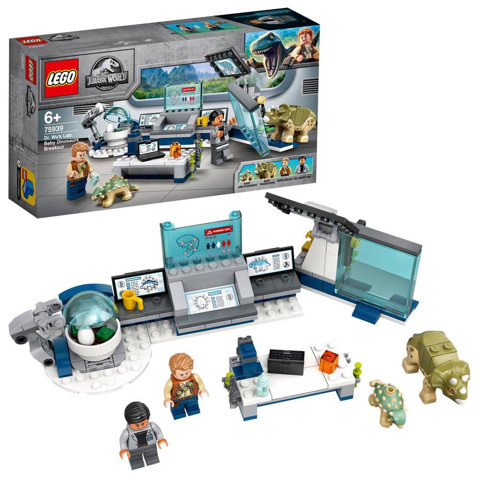 LEGO Jurassic World Dr. Wu's laboratorium: Ontsnapping van de babydinosaurussen 75939