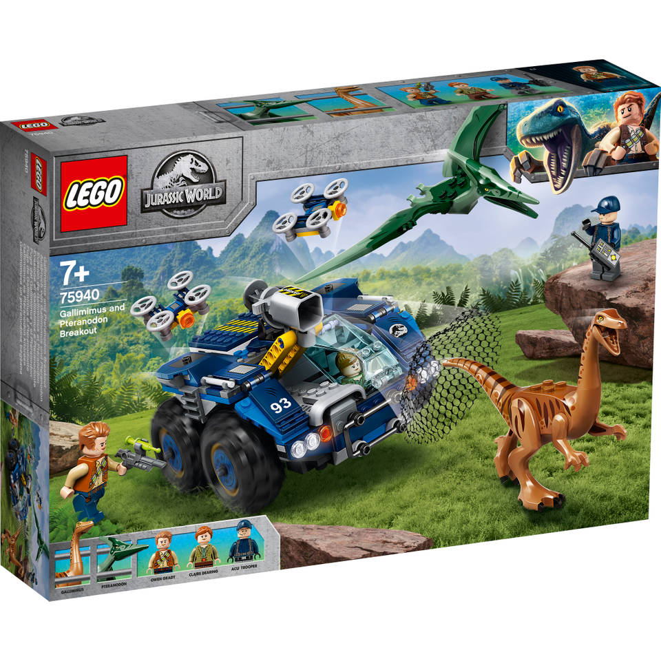 LEGO Jurassic World Ontsnapping van Gallimimus en Pteranodon 75940