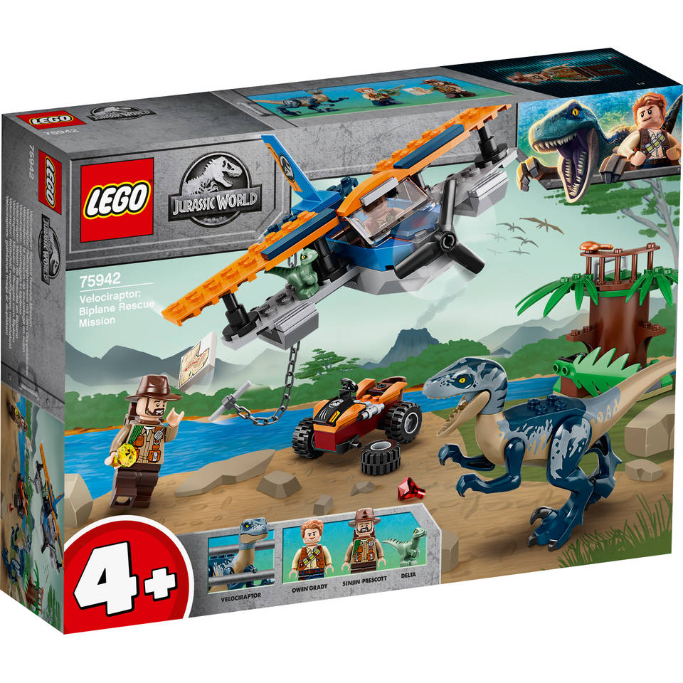 LEGO Jurassic World Velociraptor: Tweedekker reddingsmissie 75942