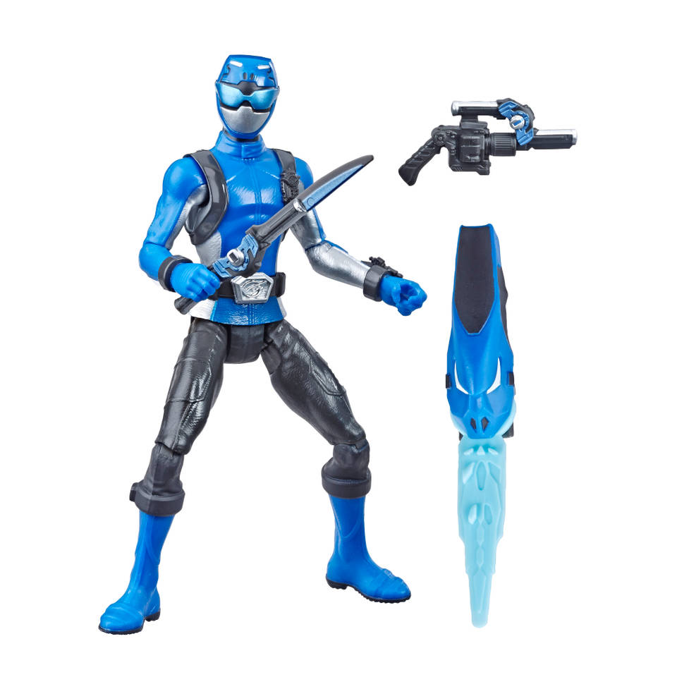 Power Rangers Beast Morphers figuur Blue Ranger - 15 cm