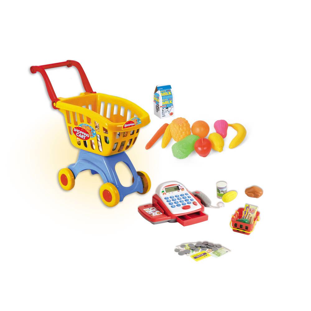 Winkelwagen met kassa en accesoires