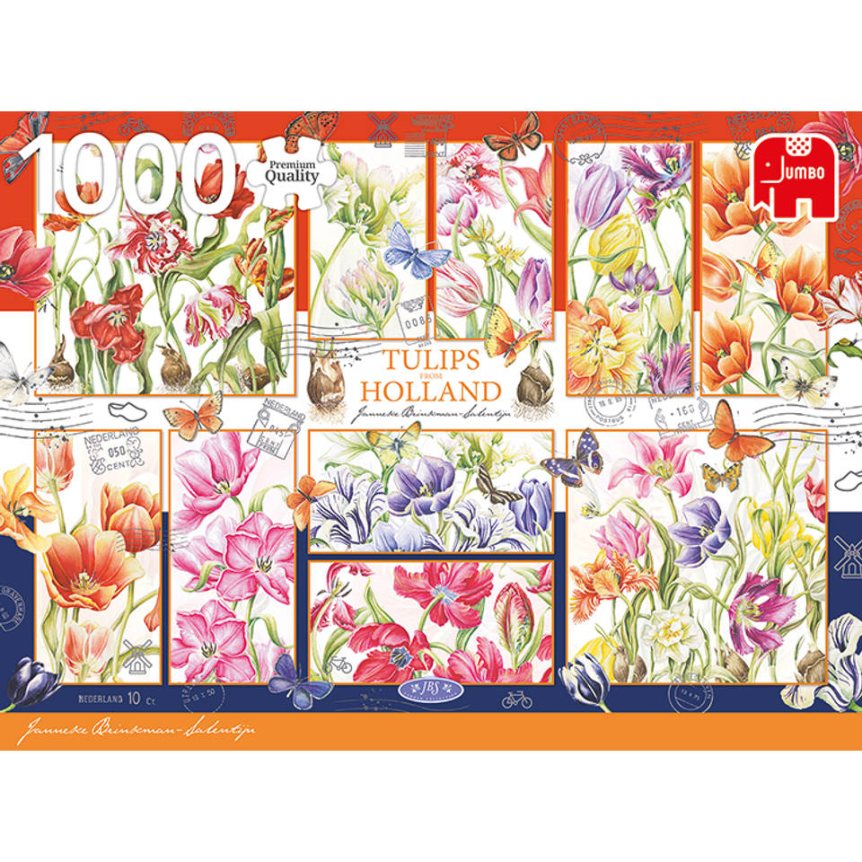 Jumbo Janneke Brinkman puzzel Nederlandse tulpen - 1000 stukjes