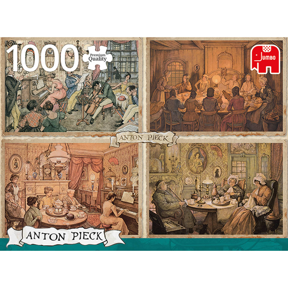 Jumbo Anton Pieck puzzel woonkamer plezier - 1000 stukjes