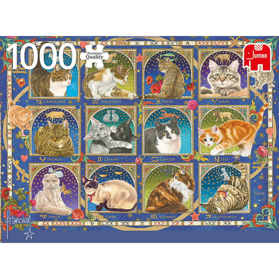 Jumbo Francien puzzel katten horoscoop - 1000 stukjes