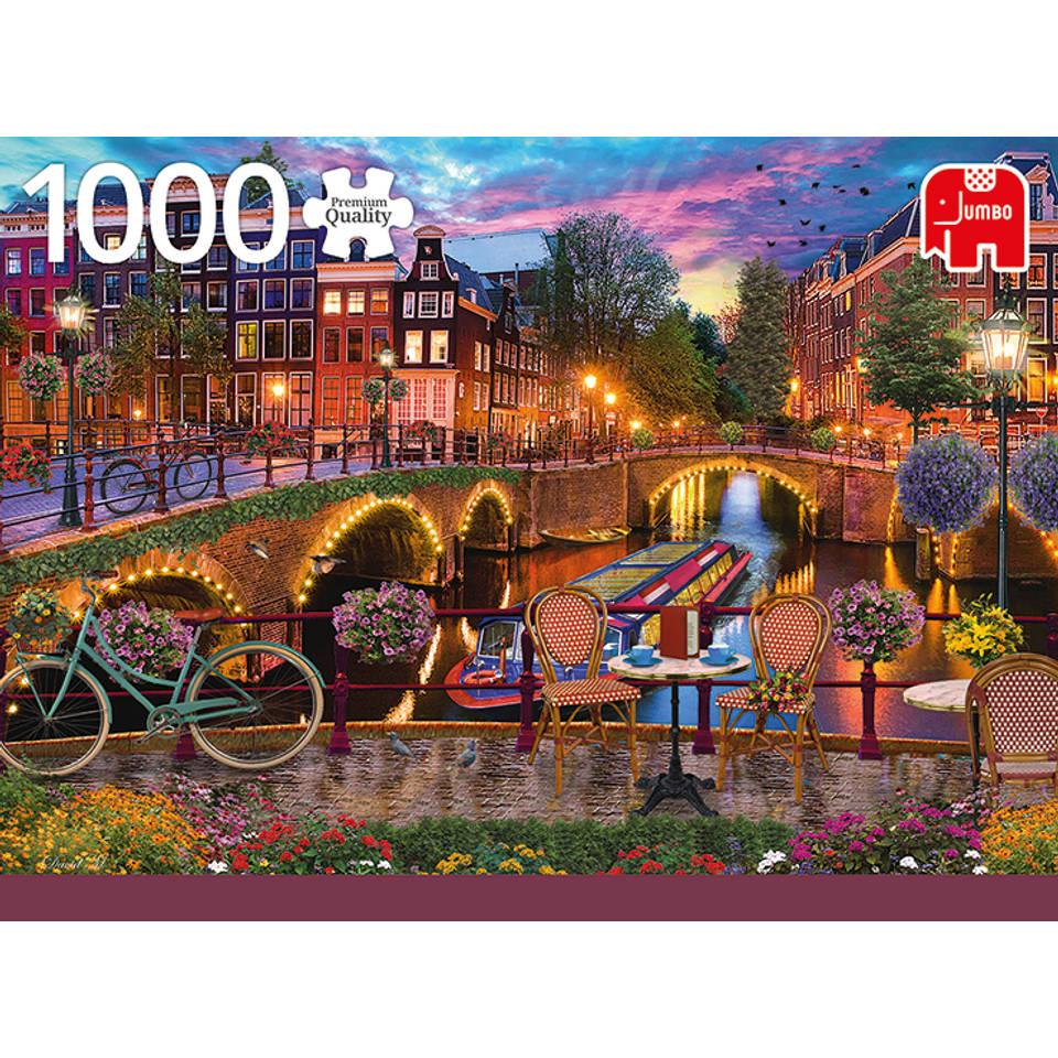 Jumbo puzzel Amsterdamse grachten - 1000 stukjes