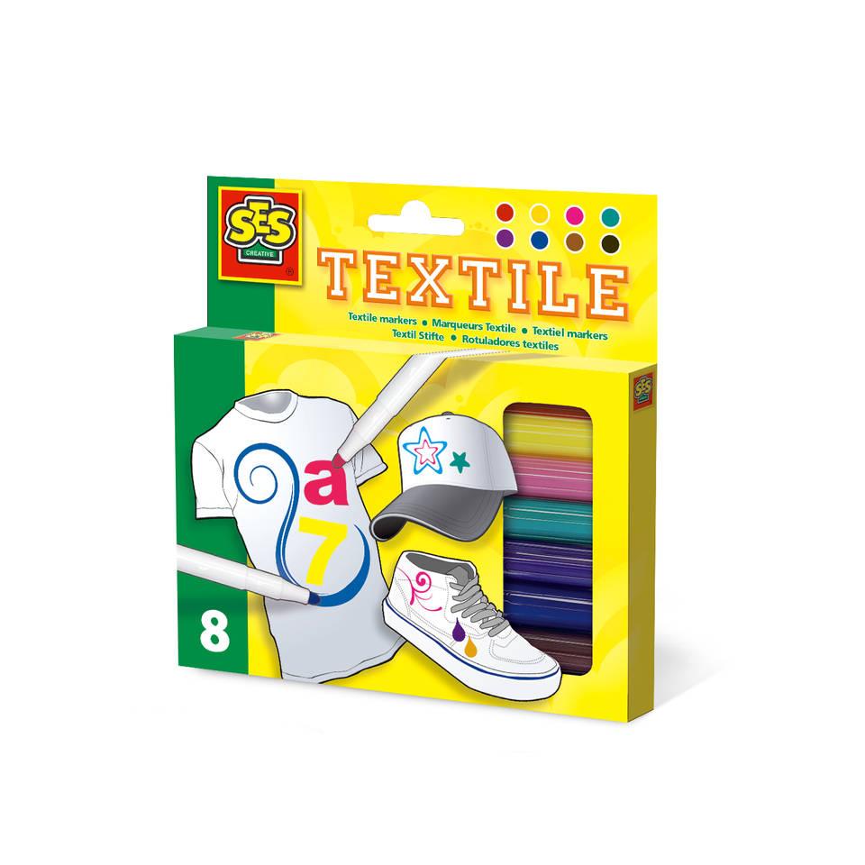 SES Creative set textielstiften 8-delig