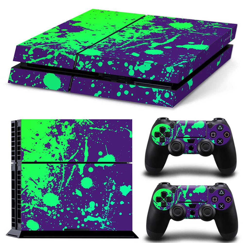 PS4 skin Splatter Purple Lime