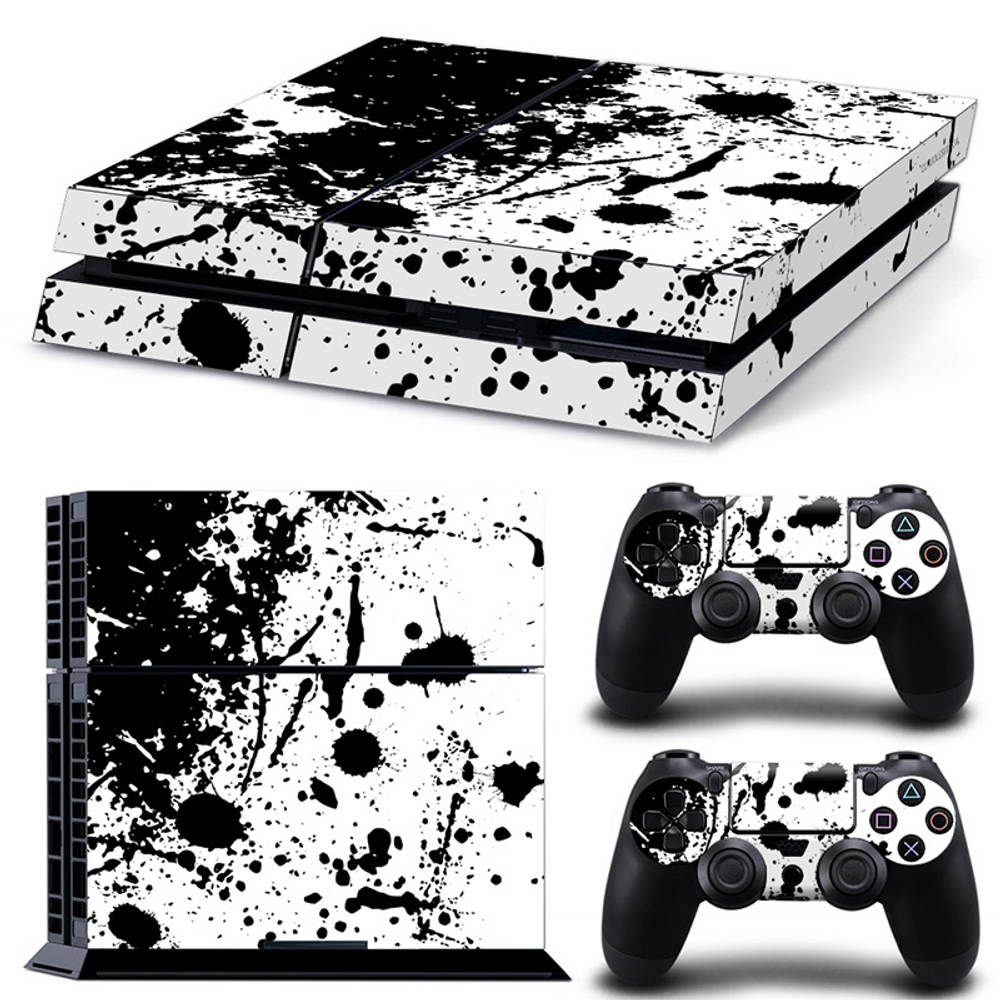 PS4 skin Splatter Black White