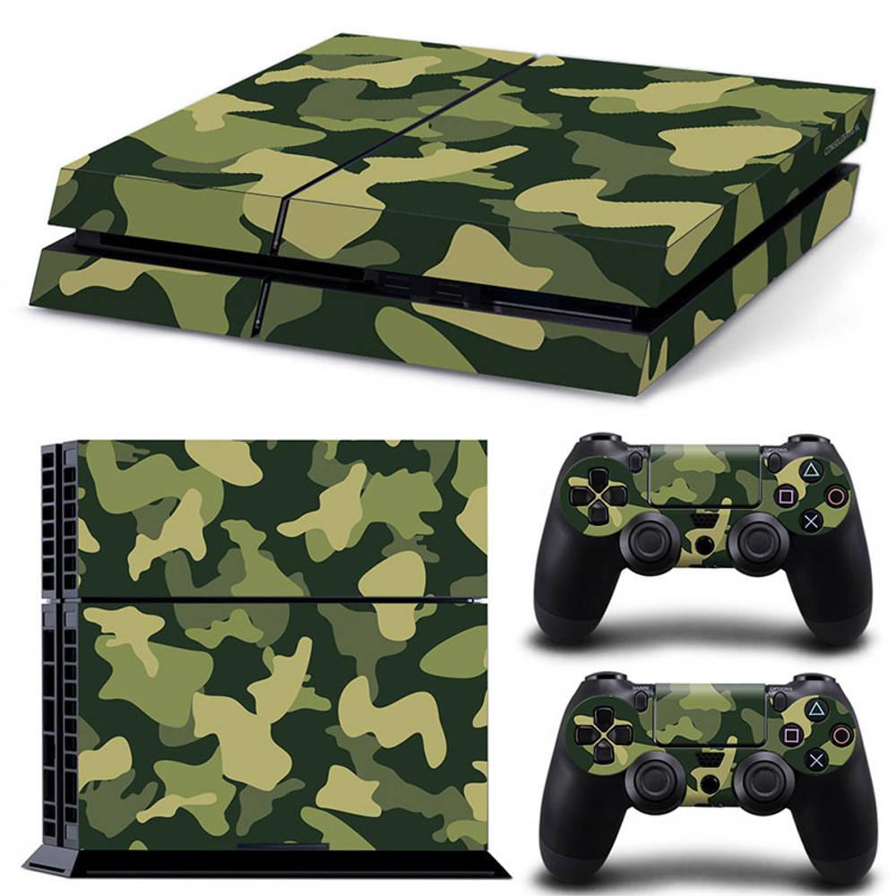 PS4 skin Army Camo Green