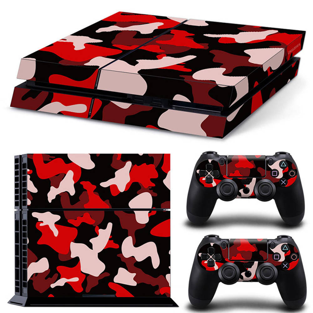 PS4 skin Army Camo Red