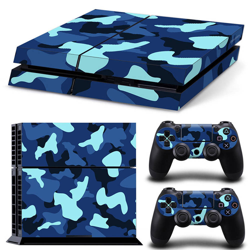 PS4 skin Army Camo Blue