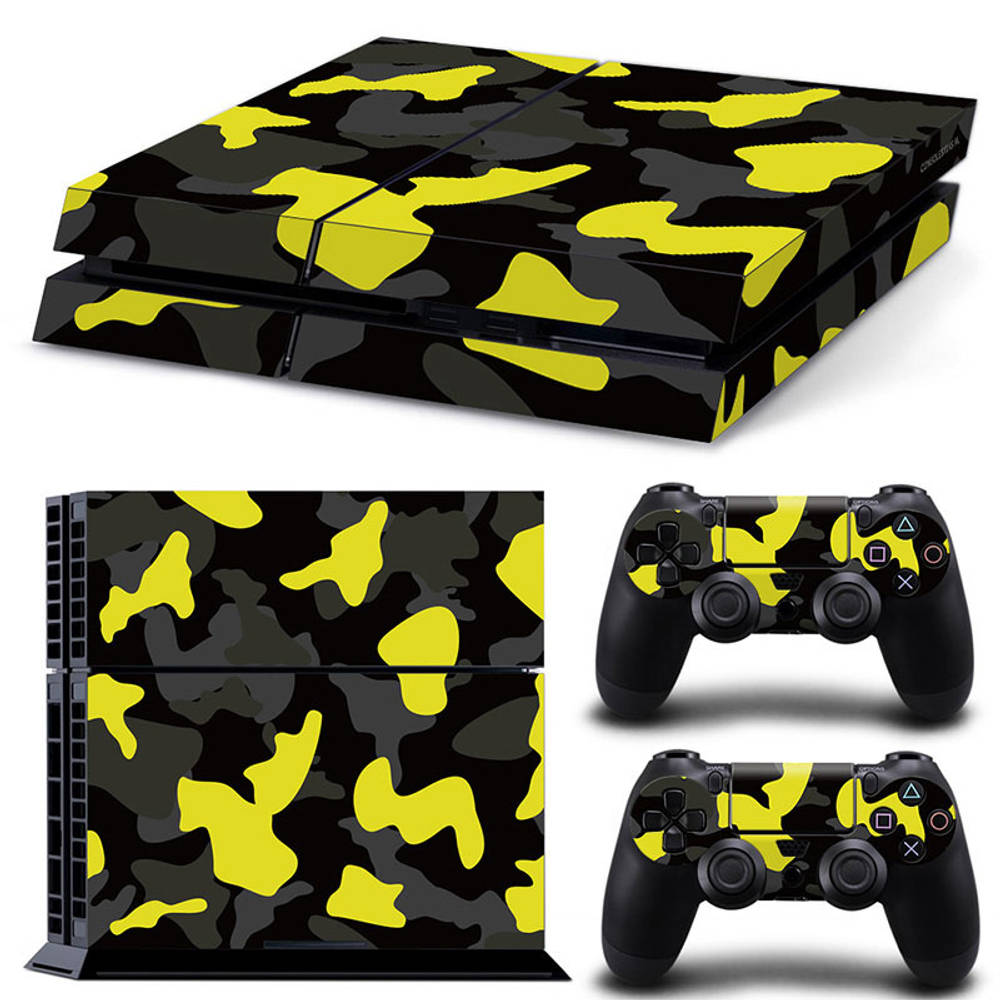 PS4 skin Army Camo Yellow