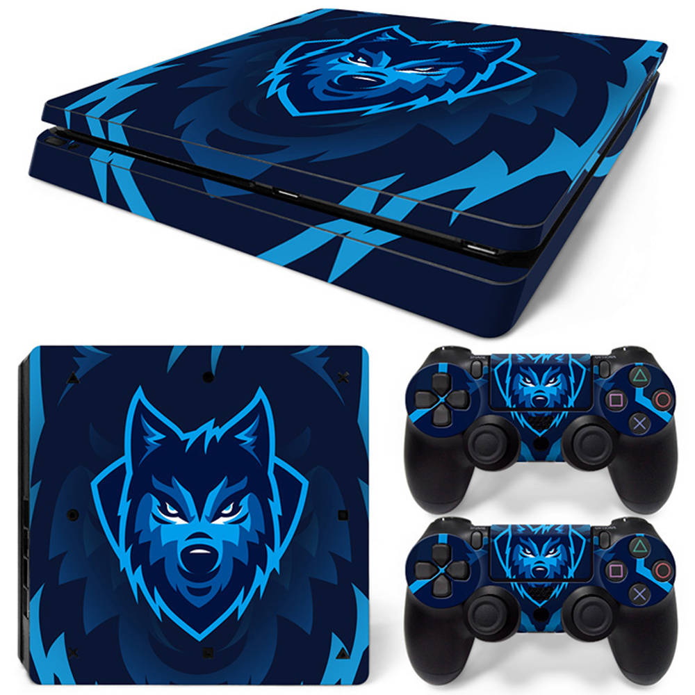 PS4 Slim skin Gamer Wolf