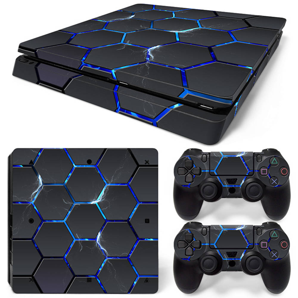 PS4 Slim skin Hex Lightning