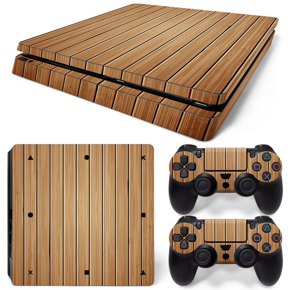 PS4 Slim skin Wood Brown