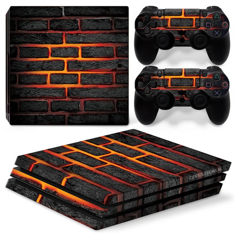 PS4 Pro skin Lava Brick