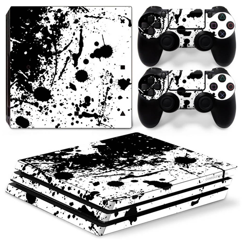 PS4 Pro skin Splatter Black White