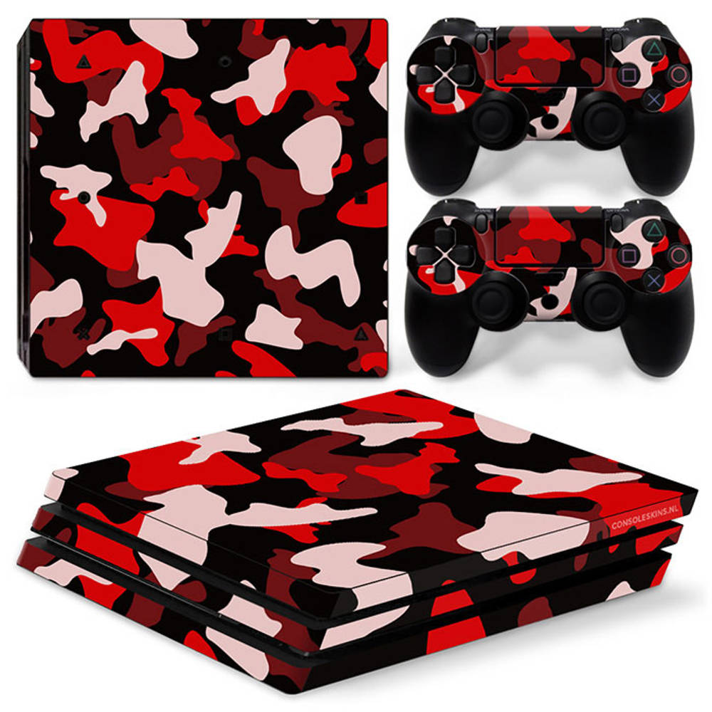 PS4 Pro skin Army Camo Red