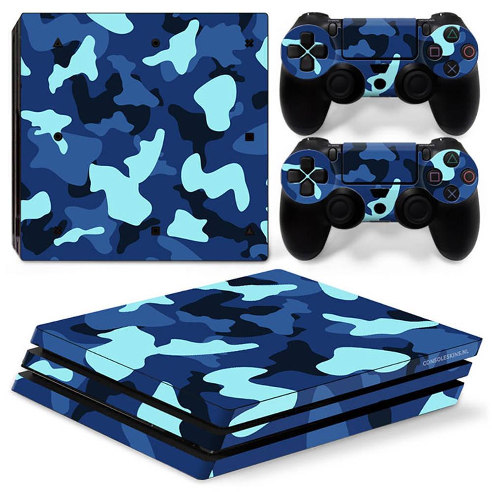 PS4 Pro skin Army Camo Blue
