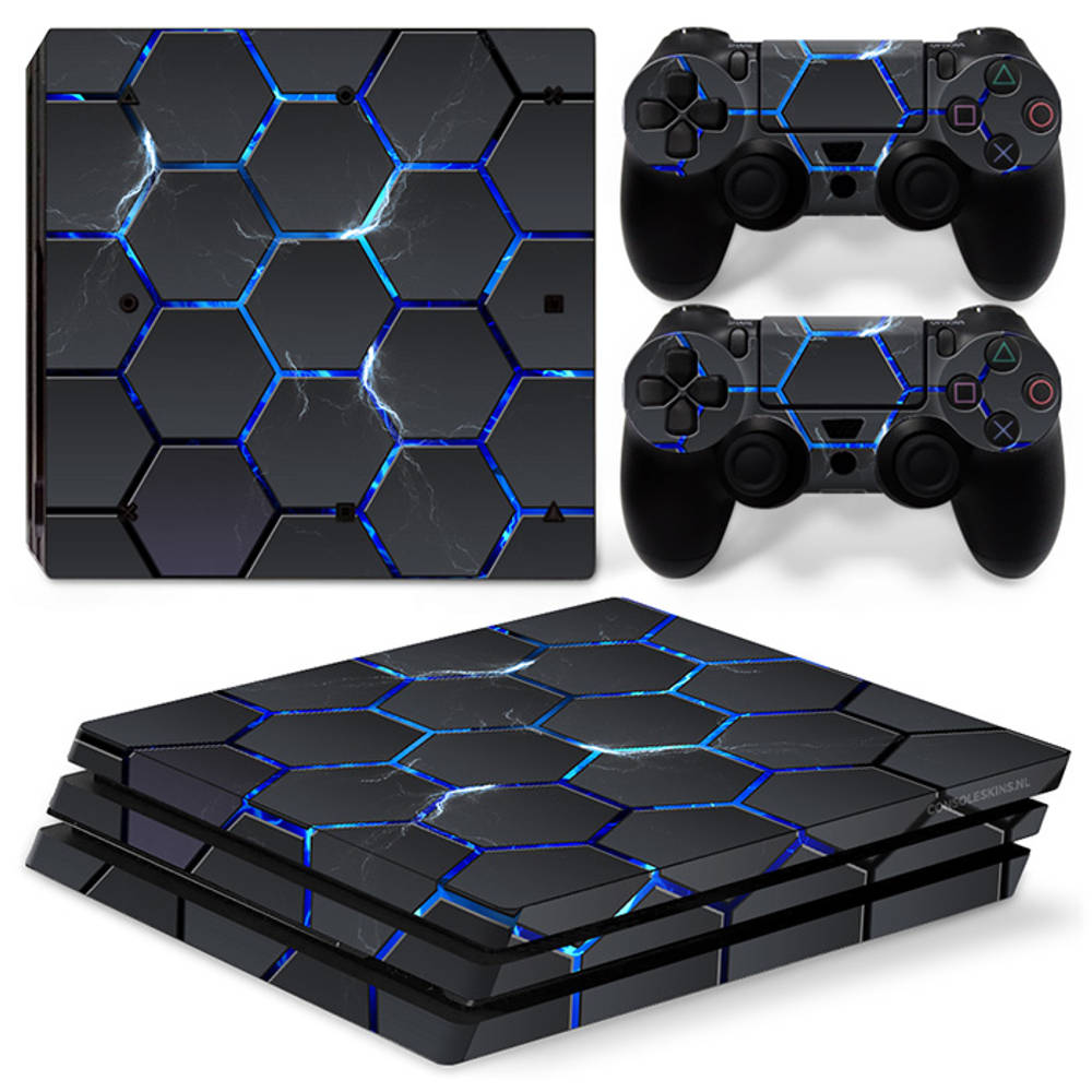 PS4 Pro skin Hex Lightning