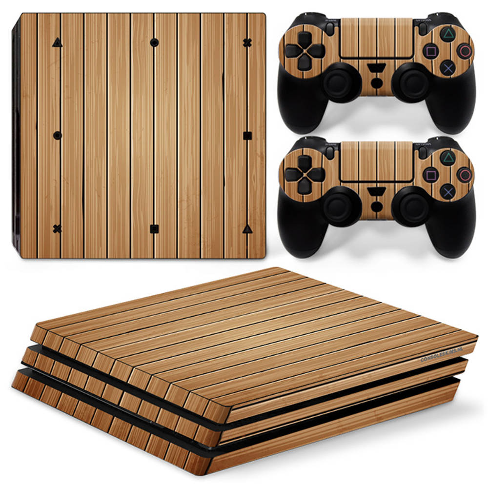 PS4 Pro skin Wood Brown