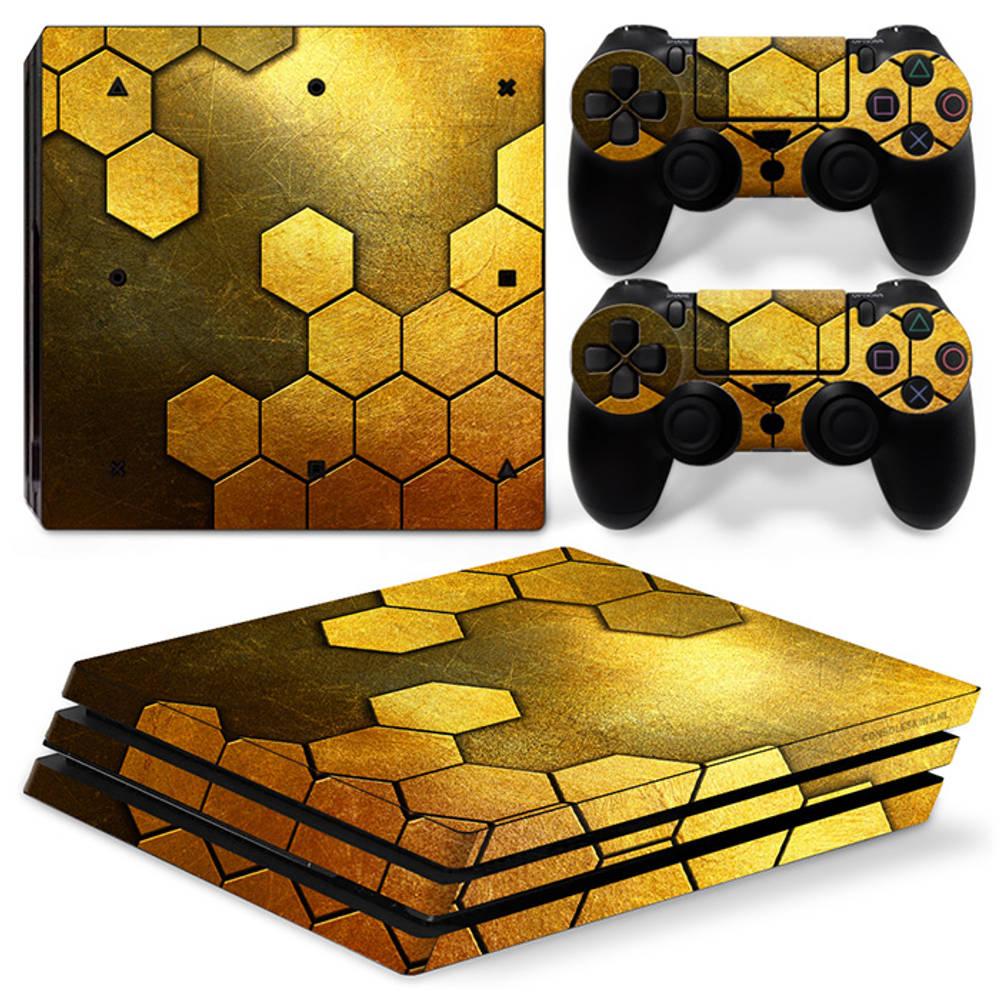 PS4 Pro skin Steel Gold