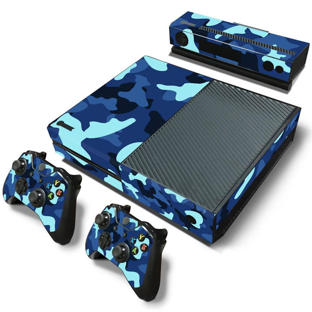 Xbox One skin Army Camo Blue