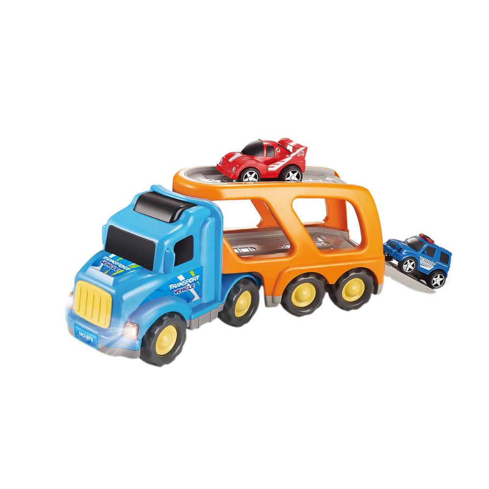 Transportauto met 2 raceauto's