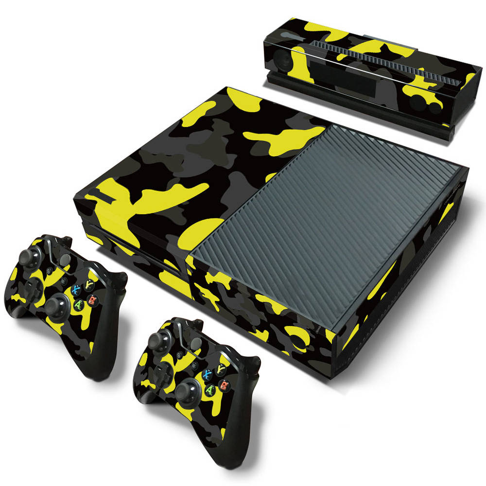 Xbox One skin Army Camo Yellow